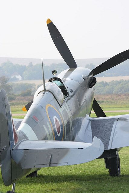 Spitfire at Shoreham Aircraft Museum, Sevenoaks, Kent. Visit shoreham-aircraft-museum.co.uk for details.