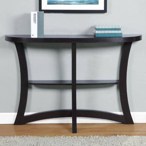 monarch specialties half moon console table | the living room