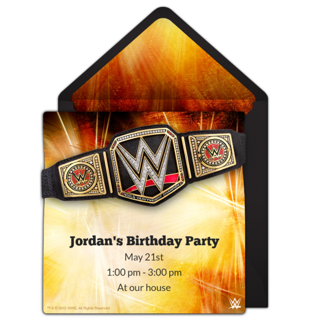 graphic regarding Wwe Birthday Invitations Printable Free identify Cost-free WWE Championship Invites in just 2019 Devon