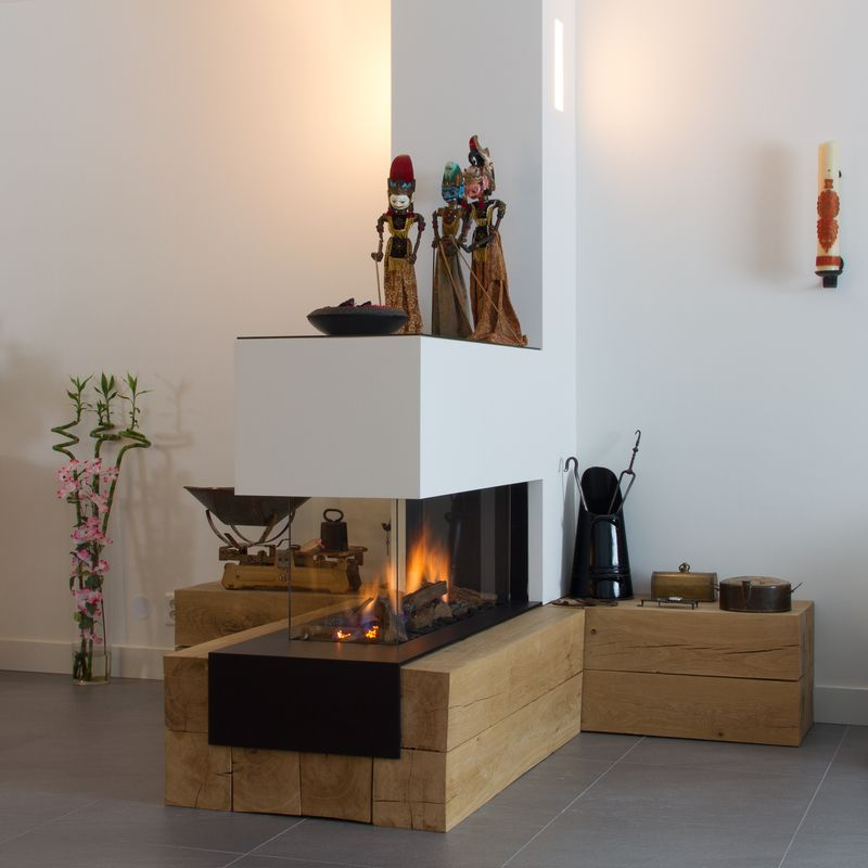 Volop warmte en sfeer home decoration in 2019 kachelofen kamin wohnzimmer offener kamin - Offene feuerstelle wohnzimmer ...
