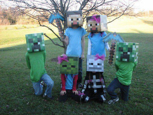 cute Minecraft Halloween costume ideas for kids halloween party ...