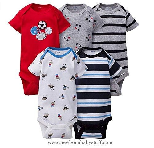 7f7569e6b Baby Boy Clothes Gerber Onesies Newborn Baby Boys Sports Outfits 5 ...