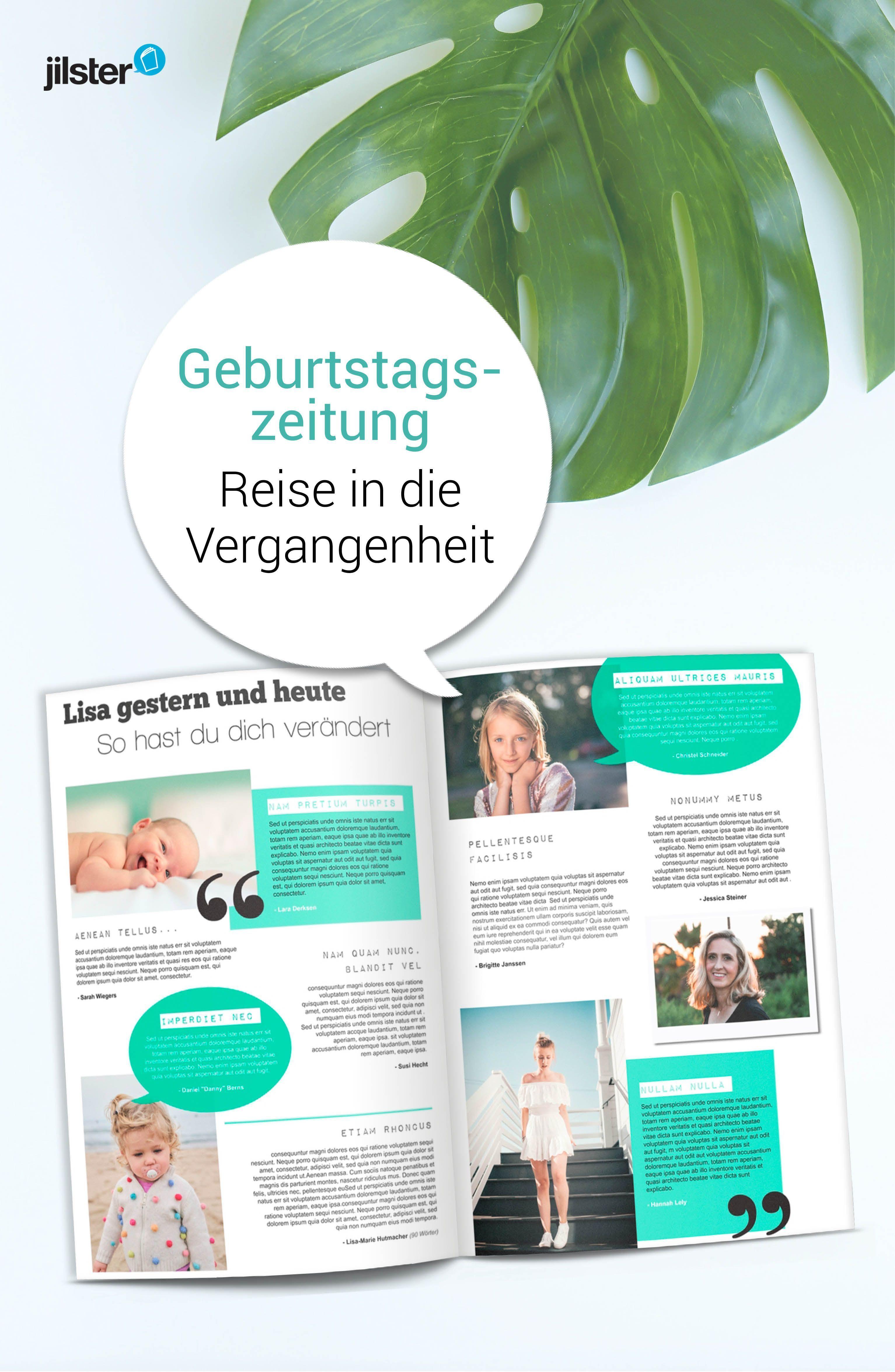 Geburtstagszeitung | Zeitschrift gestalten | Vorlagen, Tipps & Ideen ...