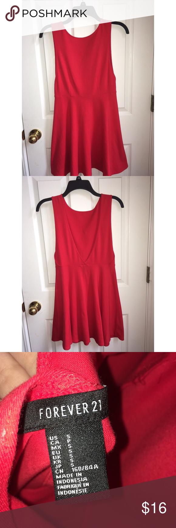 Forever red dress very cute and fun short dress dips to