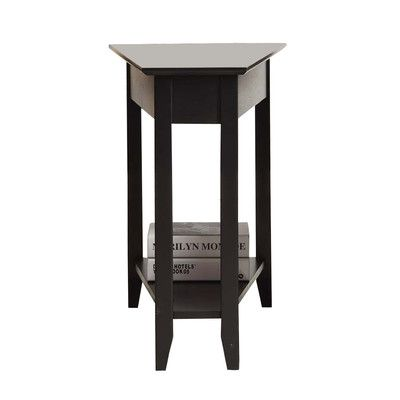 Convenience Concepts American Heritage End Table I Finish: Black