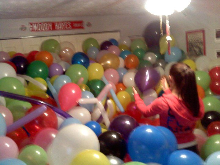 Welcome Home Surprise Fill A Room With Balloons Crafts