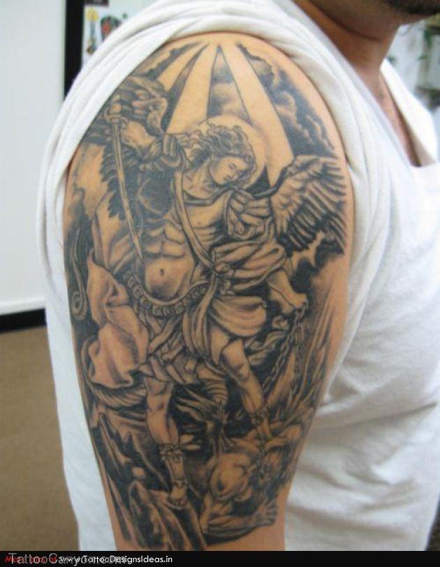 6b4158acb7077 Good And Evil Angel Tattoos Design Ideas Ffibizzcom Picture #14519 ...