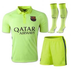 14 15 Football Shirt Barcelona Away Third Green Replica Jersey Whole Kit 104 Barcelona Jerseys Soccer Jersey Soccer Shirts