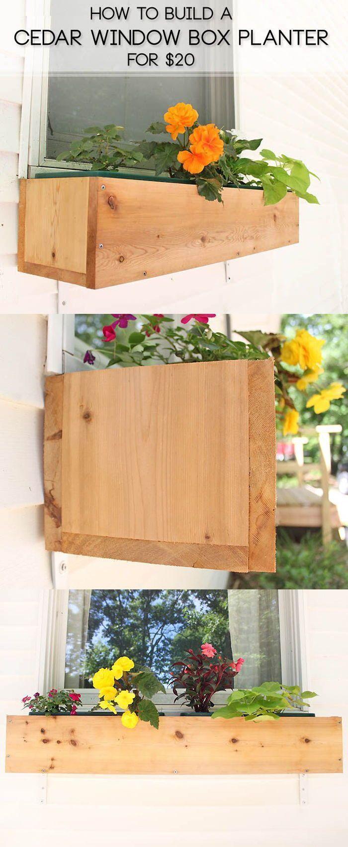 DIY cedar window boxes Cedar window boxes, Window