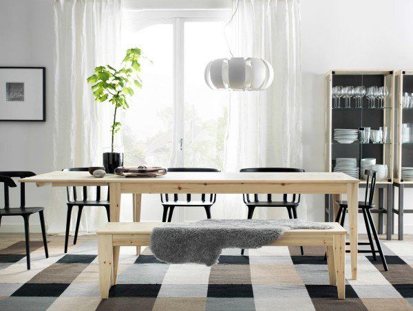 Scandinavian dining room furniture ideas woden dining table with