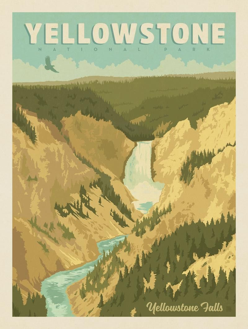Anderson Design Group – American National Parks – Yellowstone ...