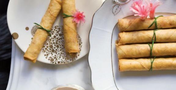 Shrimp-and-Pork Spring Rolls | KitchenDaily.com