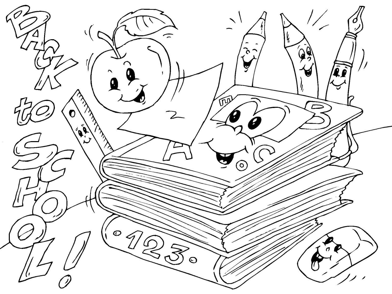 Dibujos Ideia Criativa Desenho De Volta As Aulas Para Colorir