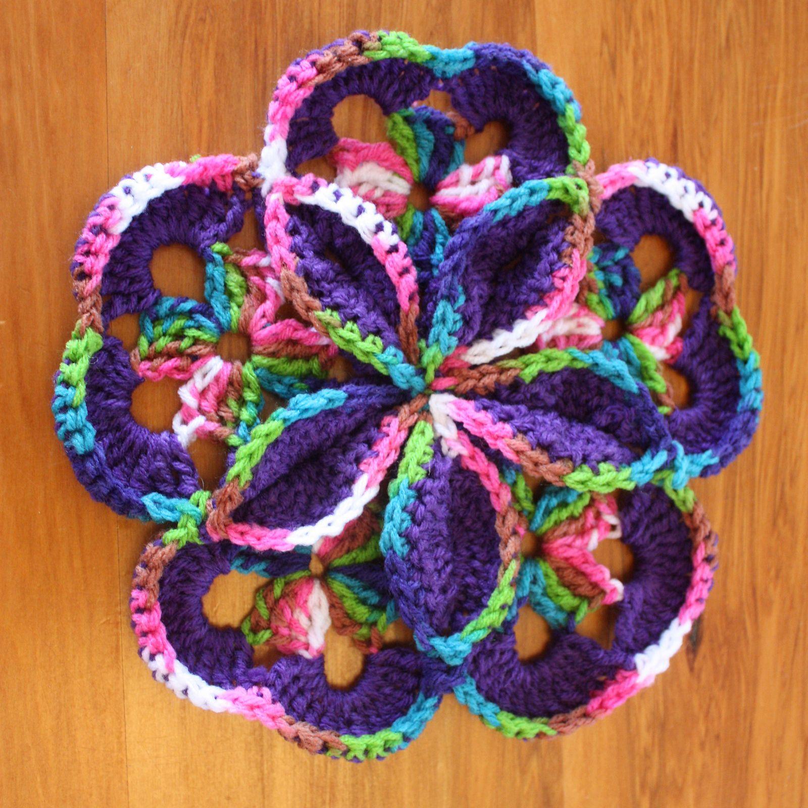 Starburst Hotpad By Loretta Schepp - Free Crochet Pattern - (ravelry ...