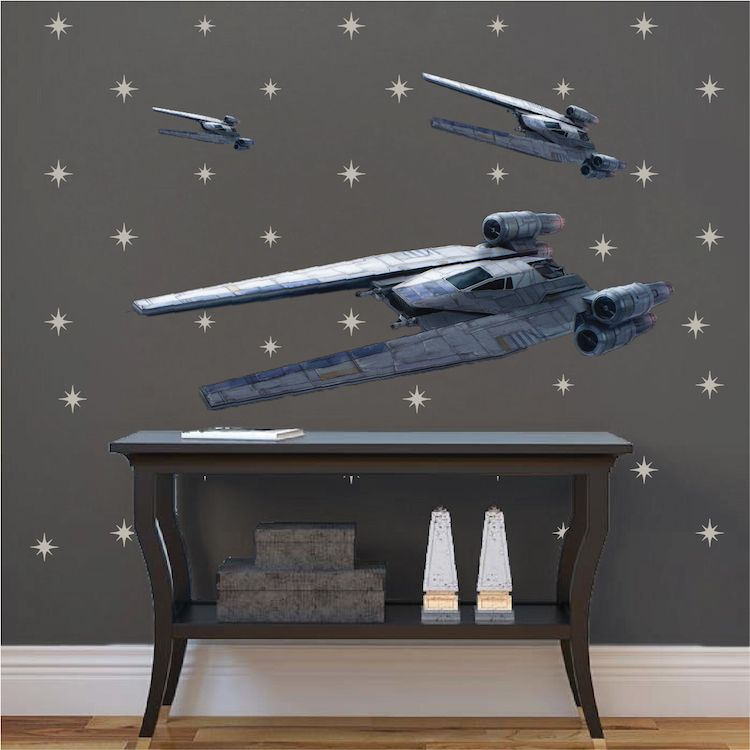 UT 60D Wall Decal   U wing Wall Sticker   Star Wars Home Decor     UT 60D Wall Decal   U wing Wall Sticker   Star Wars Home Decor   Primedecals