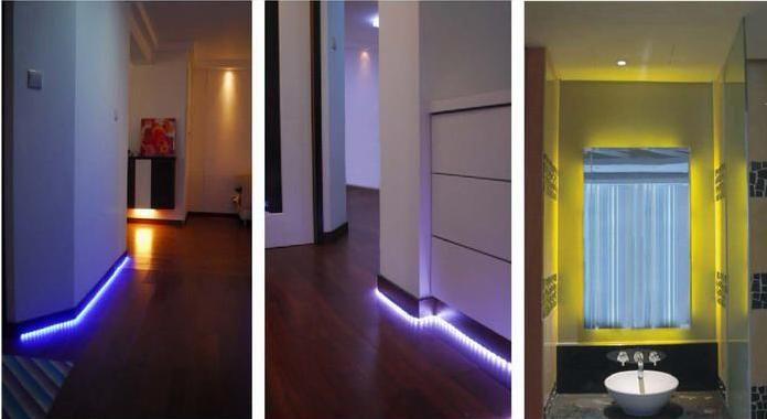 Simple But Effective Led Lighting Ideas Led Strip Lighting Strip Lighting Bathroom Lighting Diy