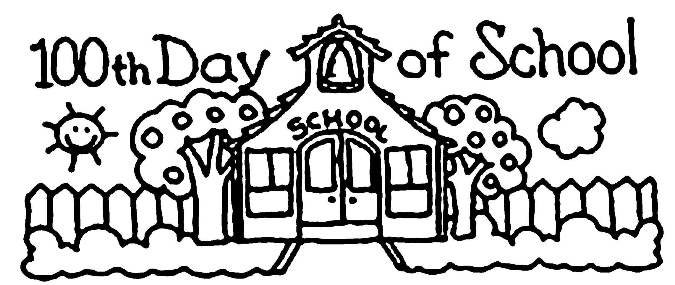 100th Day Of School Coloring Pages 100th Day Of School