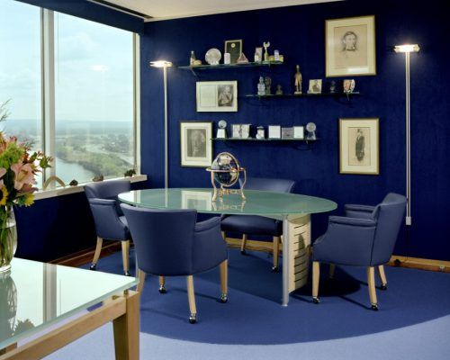 Navy Blue Meeting Room in Modern Office | Home Picture | House Plans ...