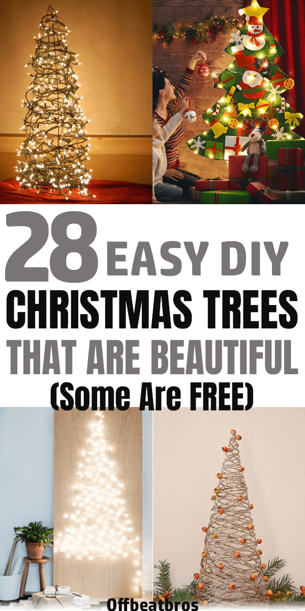 The Christmas trees always remain center of attraction in the much-awaited festival of the world. Here are some Unconventional and beautiful DIY Christmas trees ideas perfect for any space in your home! Glad I could find these amazing Christmas tree ideas for Christmas decorations. #christmastrees #christmasdecorations #offbeatbros #christmastreeideas #homedecorideas