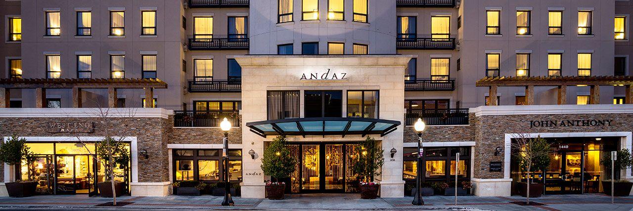 Napa Valley Hotels Exterior Dusk Andaz