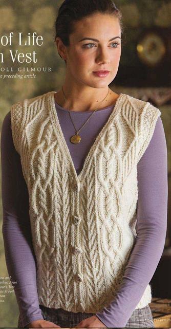 новые темы за 13 ноября 2017 года вязание Knit Vest Pattern