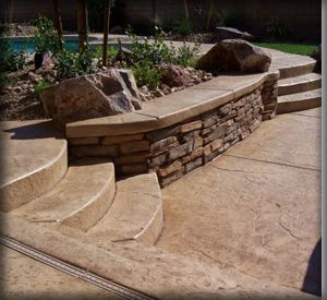 Stamped Concrete With Steps    Chuck Loves This
