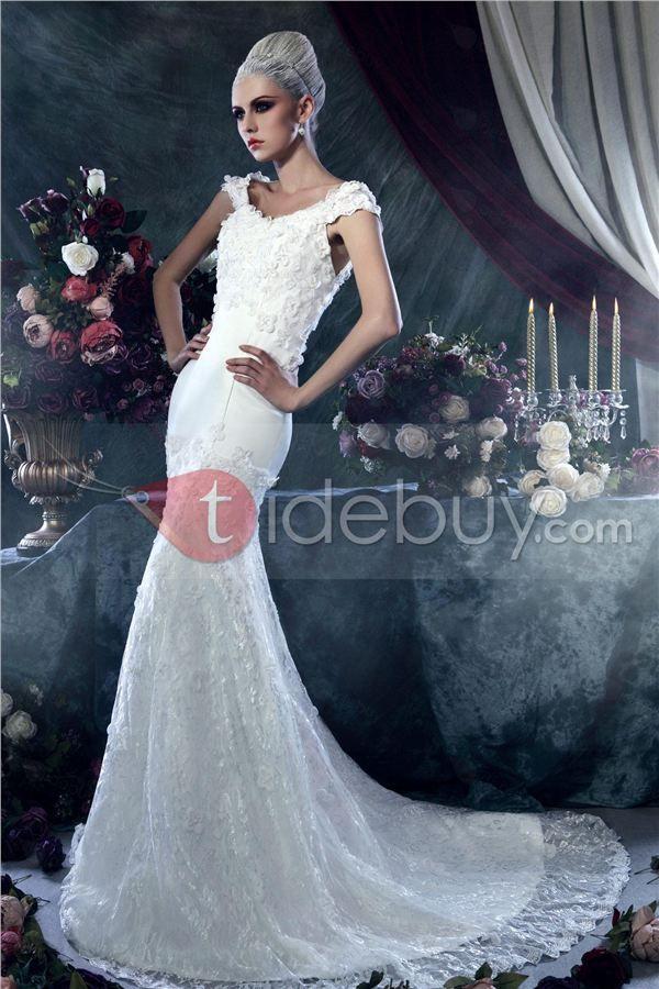 brillante/dasha's vestido de boda sin mangas de lazo y silueta
