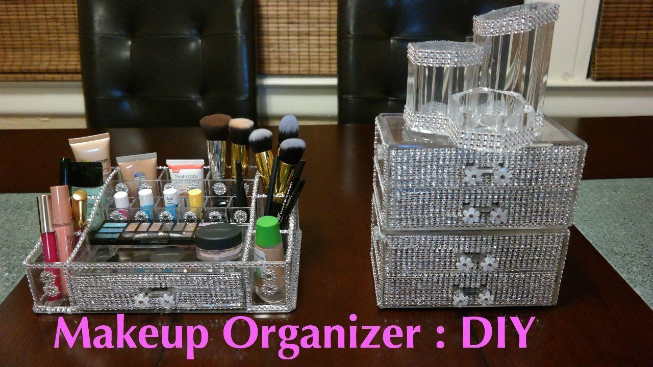 Makeup Organizer Diy Youtube Makeup Organization Diy Dollar