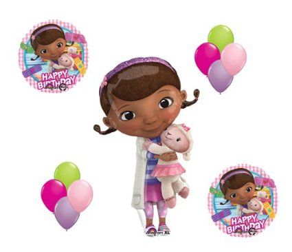 Amazon.com: Doc McStuffin and Lambie Mylar Latex Happy Birthday Balloon Set Bouquet Disney: Everything Else