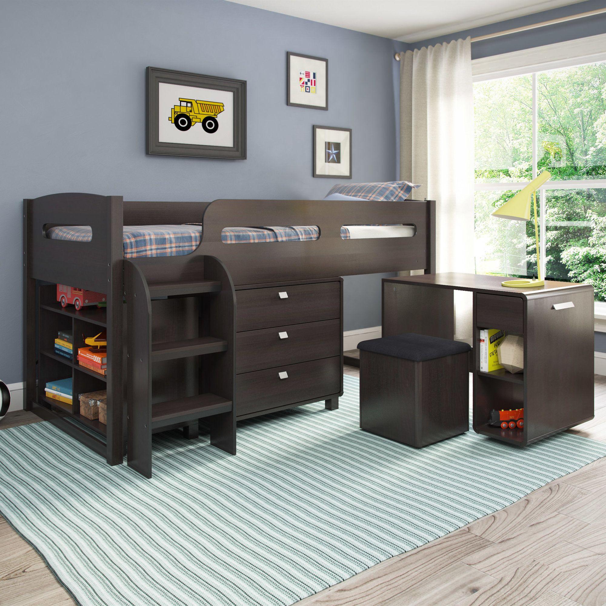 Deion twin loft bed with storage furniture ideas pinterest