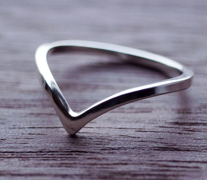 Chevron Ring Sterling Silver Chevron Ring Silver Chevron Ring Wishbone Ring Birthday Gift Gift For Her Best Friend Gifts