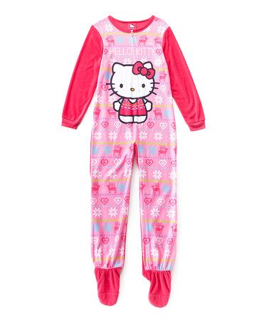 3f8f9d00f Look what I found on  zulily! Hello Kitty Footie - Girls ...