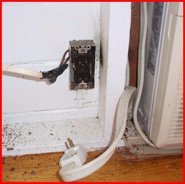 Shocking Diy Nightmare Electric Wiring At Its Absolute Worst Electrical Outlets Electricity Home Electrical Wiring