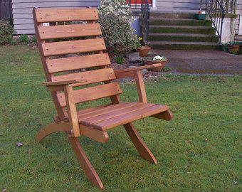 Cedar Chair for Outdoor Comfort - Color: Natural Cedar - Storable ...
