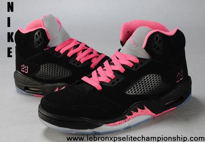 3a1510b6526f9a Buy Discount Women Air Jordan 5 Black Pink Silver Newest Now