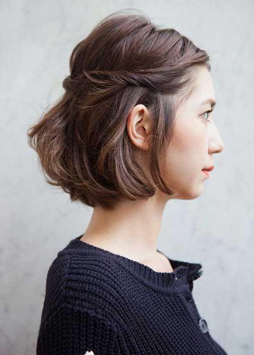 Brown Braided Bob Hair Side View | Hairstyles | Pinterest | Bob ...