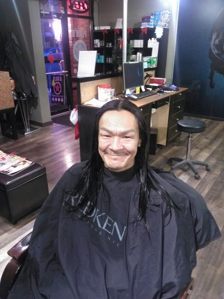 Eric came into the shop looking to donate his hair to cancer :)
