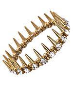 Blu Bijoux Crystal Gold Spike Bracelet