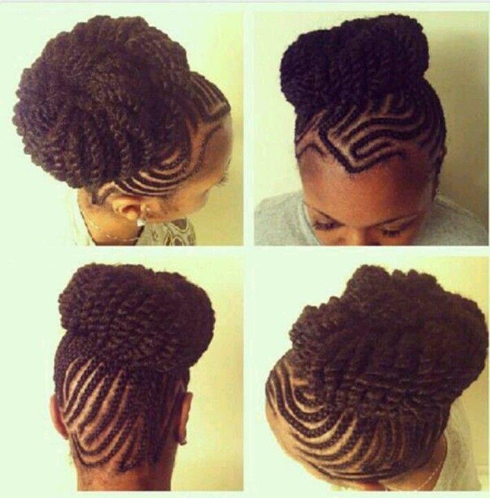 Fierce Cornrow Updo Hair Styles Natural Hair Styles African