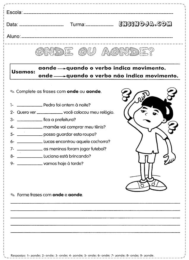 Atividades De Português 4 Ano Desenvolvido Para Oferecer Uma
