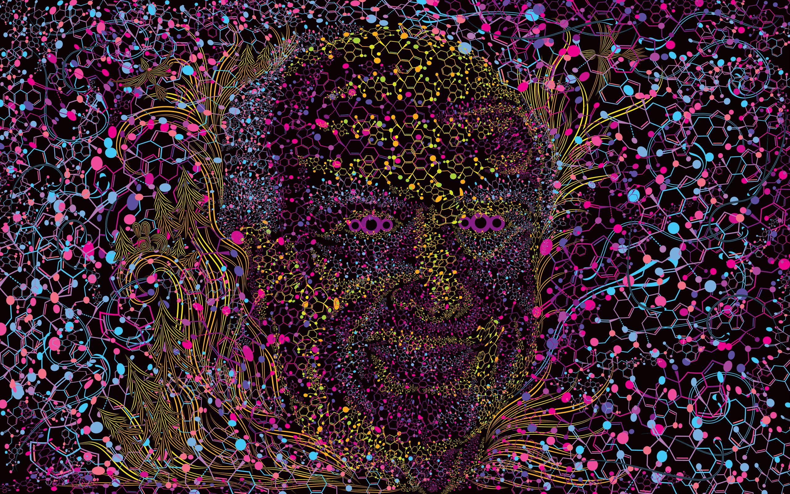 Res 2560x1600 Albert Hofmann Psychedelic Portrait Free Wallpaper Trippy Tapestry Psychedelic Psychedelic Experience