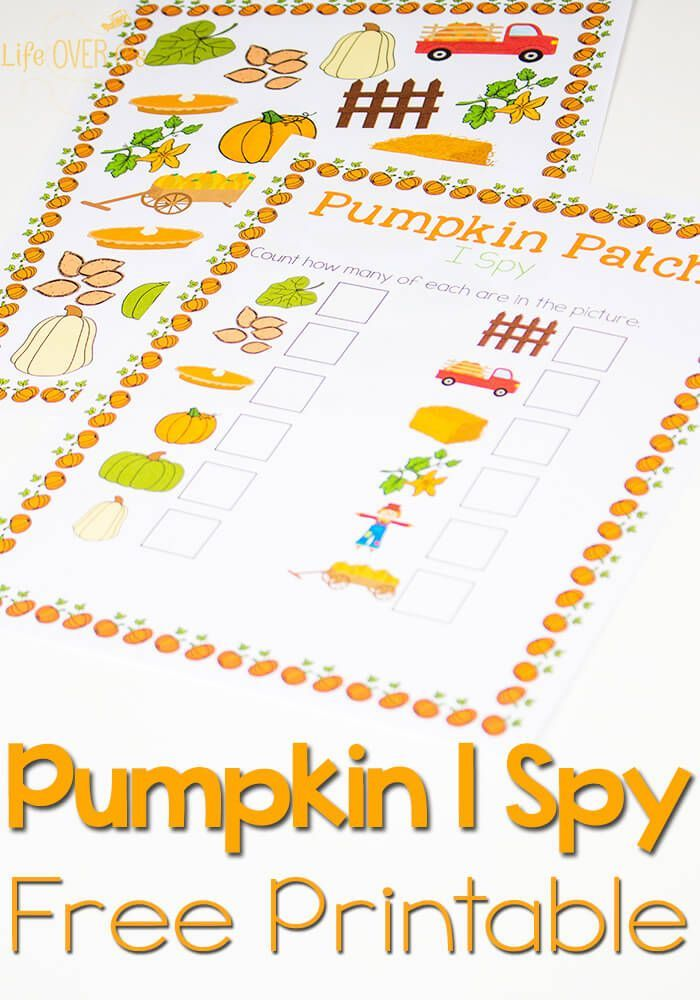 Free Pumpkin Patch I Spy & Scavenger Hunt | Free pumpkin ...