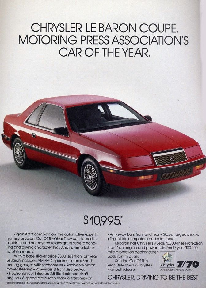 1988 Chrysler Lebaron In Red My First Car Loved It