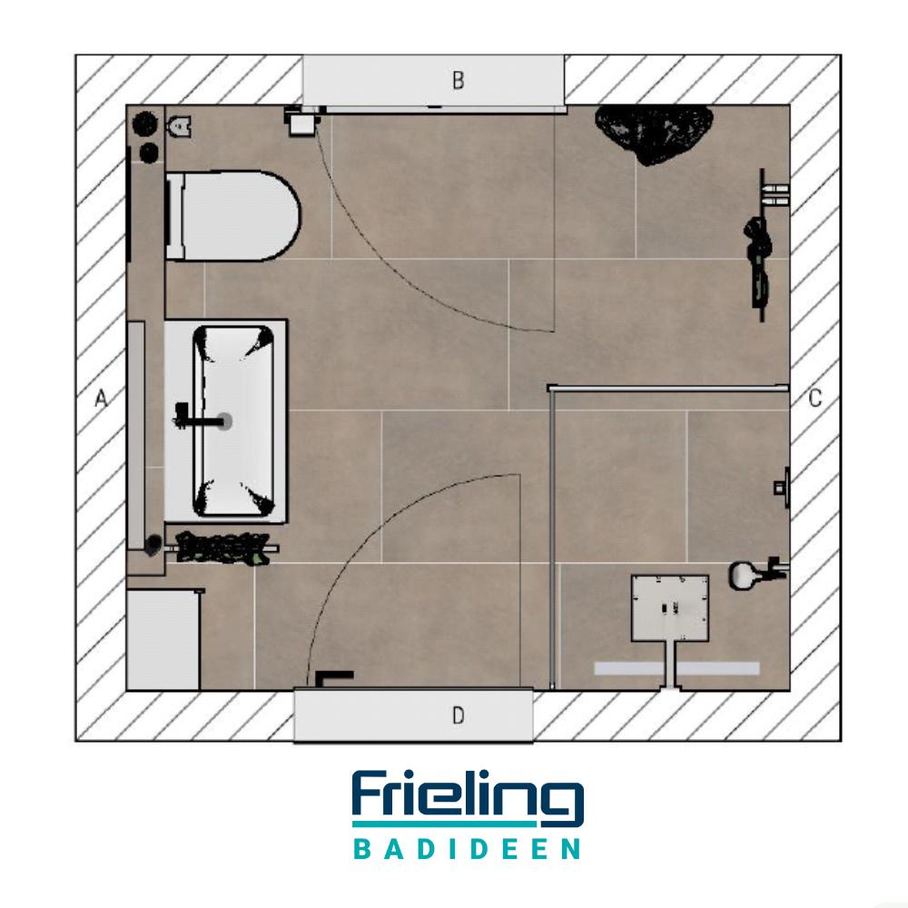 Quadratisch Praktisch Gut Planungsskizze Fur Ein Duschbad Dusche Duschbad Badezimmer Grundriss