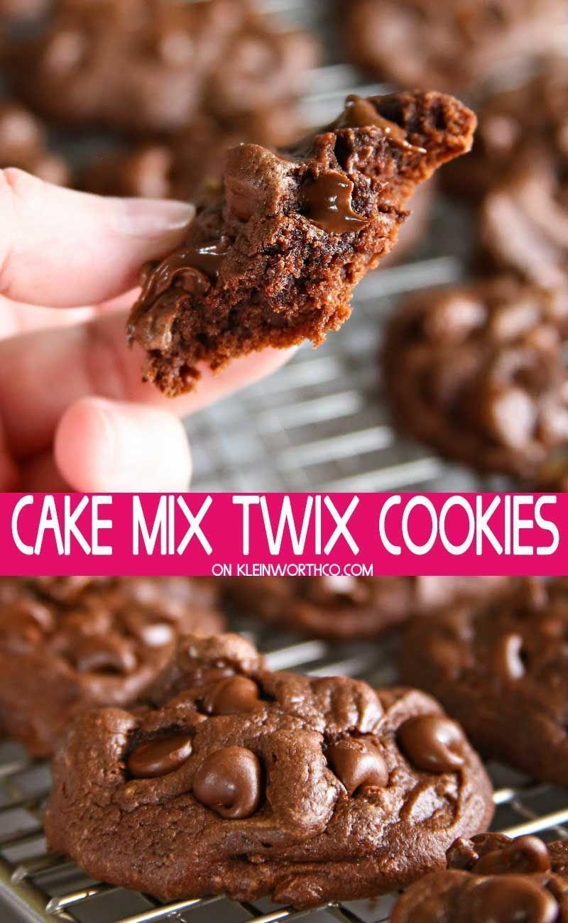Chocolate Cake Mix Twix Cookies are soft and chewy chocolate cookies packed full of crushed twix cany bars. Perfect to use up all that Halloween candy. #chocolate #cakemix #twix #cookies #halloween #candy #treats #dessert #candybars #twixcookies Chocolate Cake Mix Twix Cookies are soft and chewy chocolate cookies packed full of crushed twix cany bars. Perfect to use up all that Halloween candy. #chocolate #cakemix #twix #cookies #halloween #candy #treats #dessert #candybars #twixcookies Chocolat #twixcookies