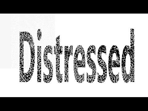 Here is an easy way to use Inkscape to make a distress