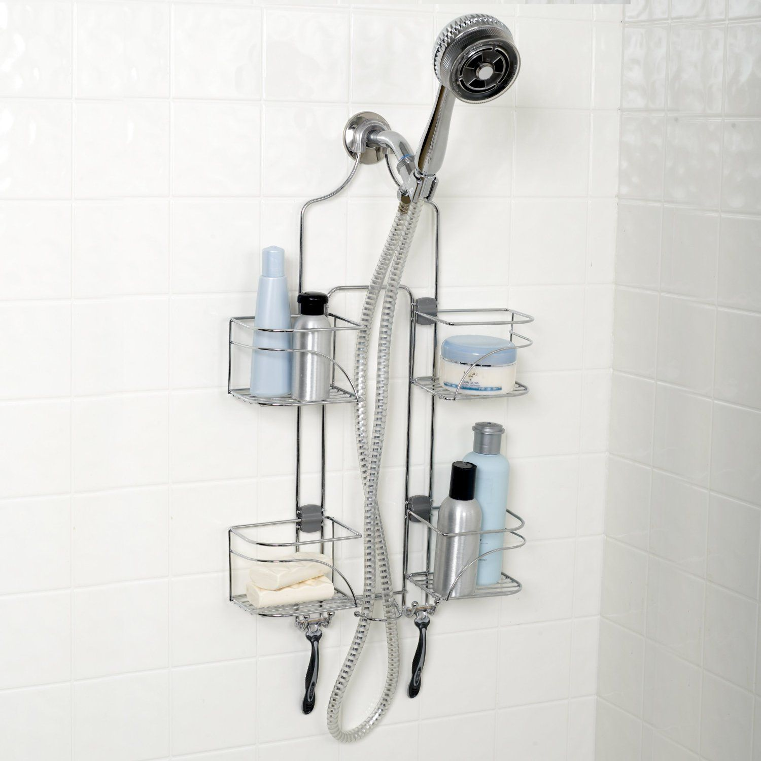Zenith Products 7446ss Expandable Shower Caddy for Hand Held Shower ...