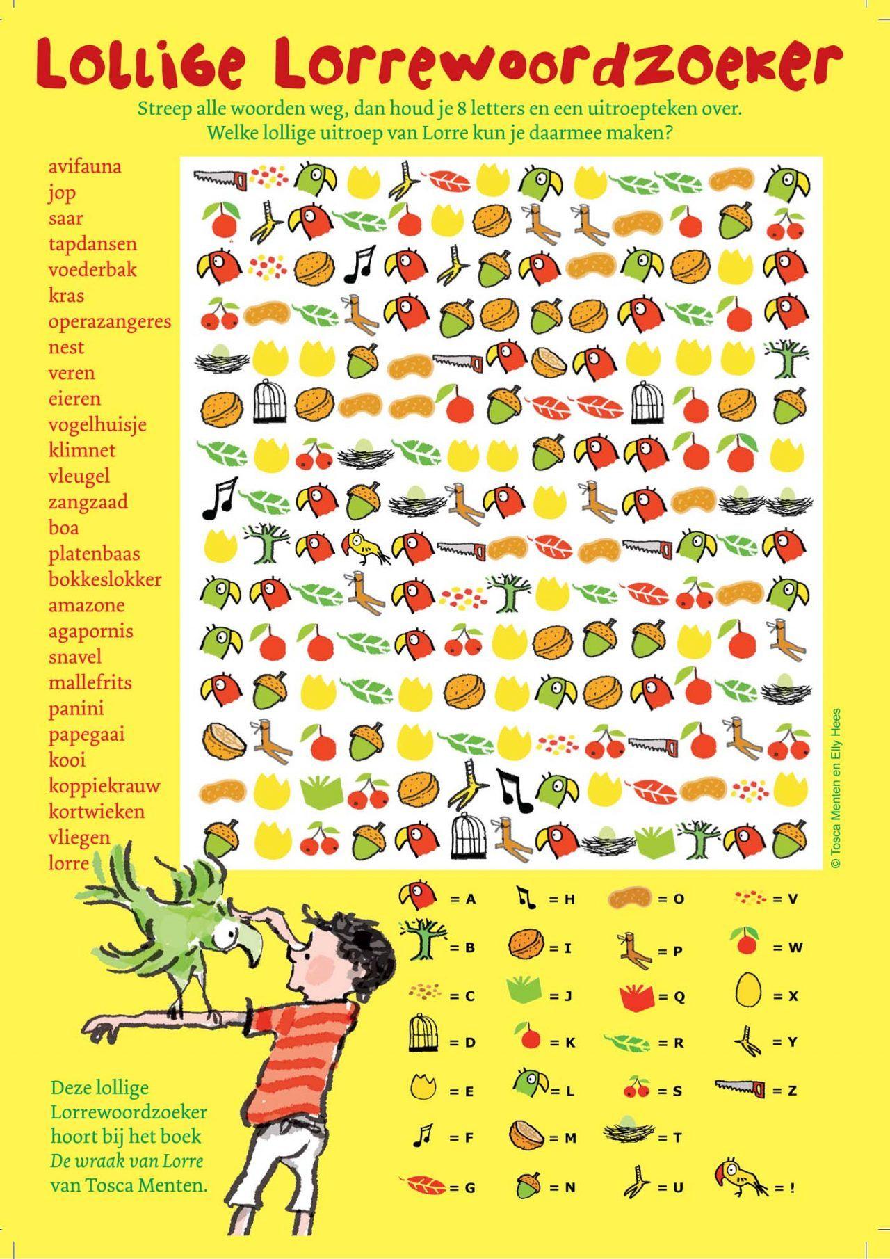 Lorre Woordzoeker Kaart A5 Voorzijde Indd Spelletjes Tapdansen Woordzoeker