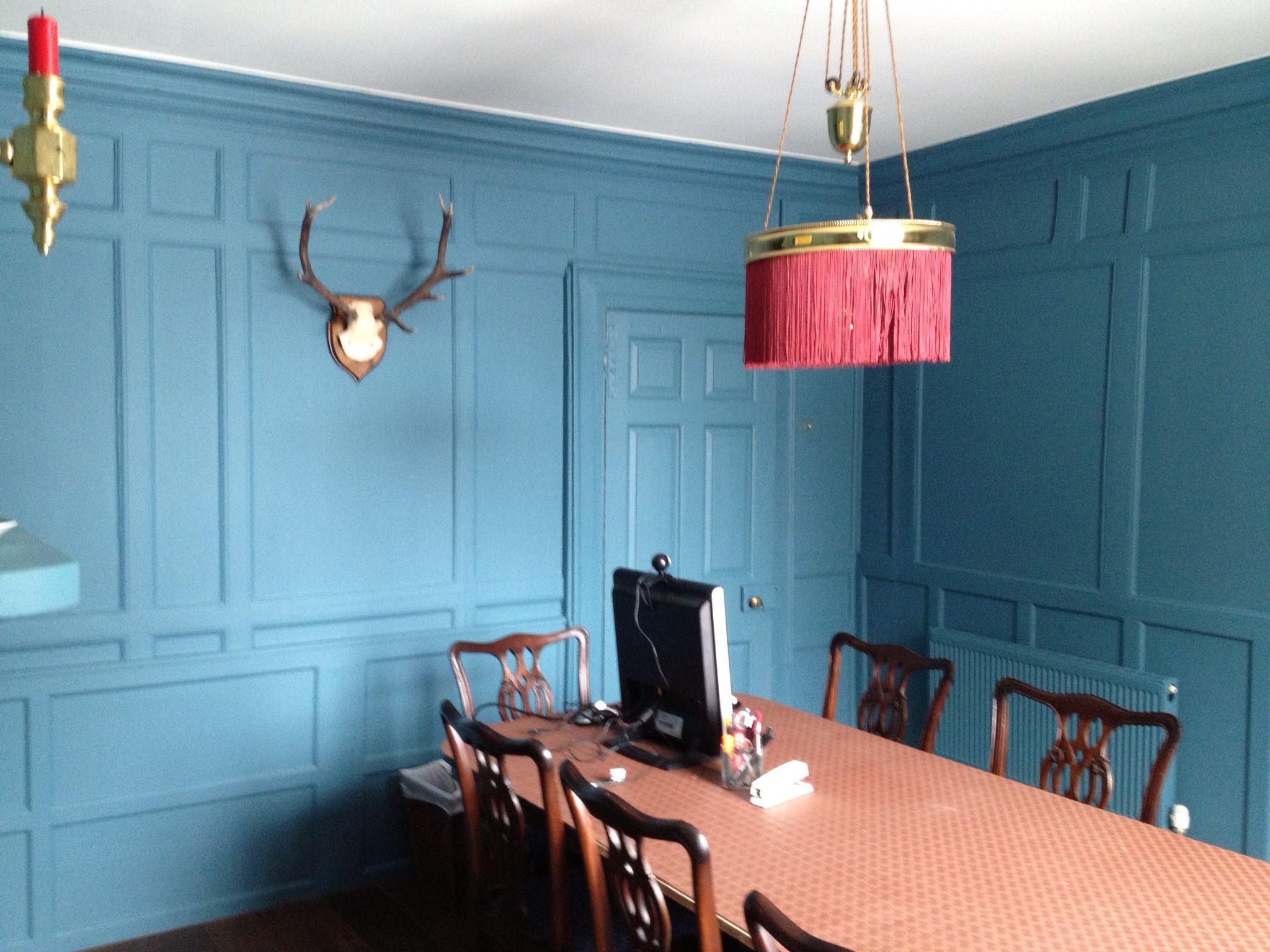 Dining Room Georgian Panelling Deep Medici Blue | Kitchen Berlin ...