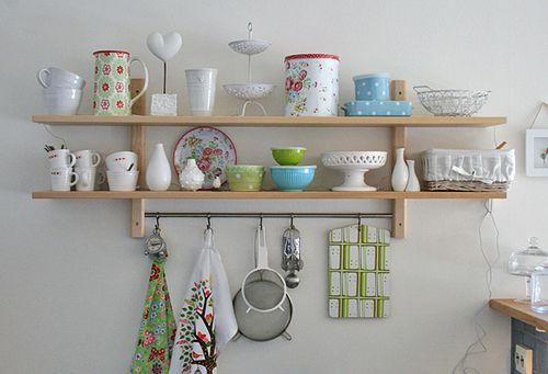 Spring Inspired Shelfs For The Kitchen Featuring The IKEA Varde Shelf.